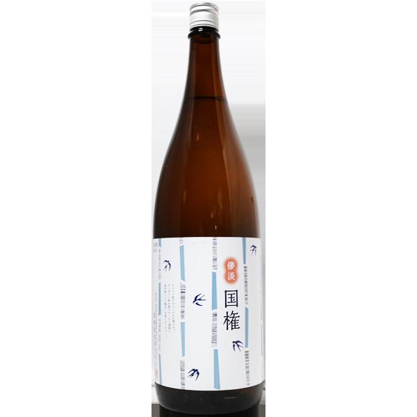 國権 スワローラベル 純米吟醸原酒 1.8L